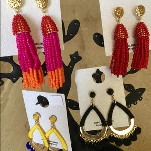 Jewelry - Brand new lot of 4 pairs Earrings